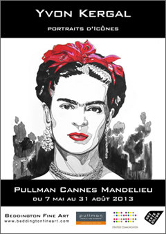 Affiche de l'exposition, Hôtel Casino Pullman Cannes Mandelieu - Stratège Communications, Monaco - Galerie Beddington Fine Art, 83830 Bargemon