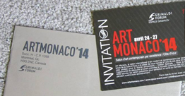 ArtMonaco 2014, billet d'invitation